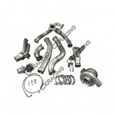 T76 Turbo Manifold Header Downpipe Wastegate Kit For 98-02 Chevrolet Camaro LS1 Motor NA-T