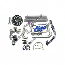 Turbo Kit For 92-00 Honda Civic D15 D16 Engine Tube & Fin Intercooler