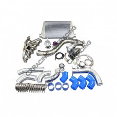 Turbo Intercooler Piping Downpipe Kit For 84-91 BMW E30 325 GT35