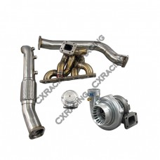 TOP MOUNT GT35 TURBO MANIFOLD Donwpipe Kit FOR 08+ GENESIS COUP 2.0T GC