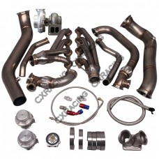 Turbo Manifold Header Downpipe Kit For 05-13 Chevrolet Corvette C6 LS3 NA-T GT45