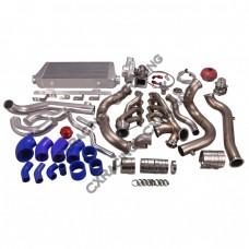 Turbo Header Manifold Downpipe Intercooler Kit For 82-92 Camaro LS1 LSx Swap