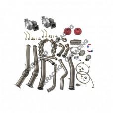 Twin Turbo Manifold Donwpipe For 04-06 Pontiac GTO Holden Monaro LS1 LS2