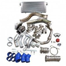 """GT45 Turbo Intercooler Piping Kit 3.5"""" Downpipe Manifold For S13 S14 LS1 LSx Swap"""