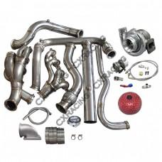 Turbo Header Downpipe Kit For 99-07 Chevrolet Silverado GMT 800 Vortec V8 5.3 4.8