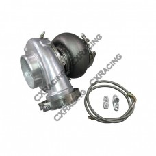 GT45 GT45R Ball Bearing Turbo Charger 76mm T4 1.15 A/R + Oil Line + V-Band Clamp Flange Kit