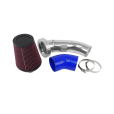 "4"" Velocity Stack Air Intake Pipe 6"" Filter For 09-15 Camaro LS3 6.2L"