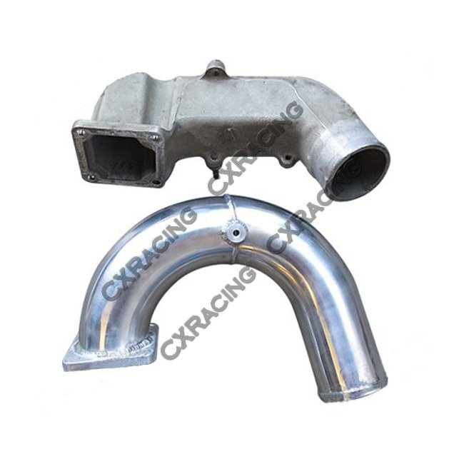 "CXRacing 3/"" Alum Intake Elbow Pipe For 03-07 Dodge Ram Cummins 5.9L Diesel"