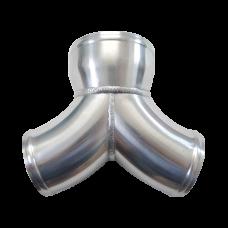 "Aluminum Y Pipe Dual 3"" to 4"" Air Intake Twin Turbo Intercooler Piping"