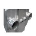 """Huge Liquid Water to Air Intercooler 15""""x13""""x11"""", 6"""" Core, 3.5"""" Air Inlet&Outlet"""