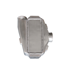 """Liquid/Water to Air Intercooler 9""""X9""""X3.5"""",3.5"""" Thick,2.5"""" Air Inlet Outlet"""
