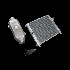 Aluminum 2 Rows Heat Exchanger Barrel Style Liquid Water to Air Intercooler And Water Pump