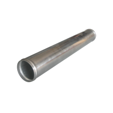 "2.25"" Straight Polished Aluminum Pipe, 2.0mm Thick Tube, 18"" Length"