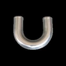 "1.5"" U-Bend Aluminum Pipe, Mandrel Bent Polished, 1.65mm Thick Tube, 15"" Length"