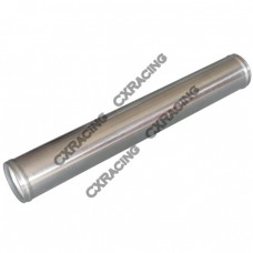 """2.5"""" Straight Aluminum Pipe, Mandrel Bent Polished, 2.0mm Thick Tube, 18"""" Length"""