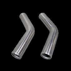 "2pcs 2.5"" Inch OD 45 Degree Universal Aluminum Intercooler Intake Pipe"