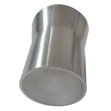 """2.5"""" to 2"""" OD Weld On Aluminum Reducer Pipe 2mm Thick 3"""" Long"""