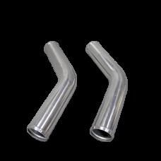 "2pcs 3"" Inch OD 45 Degree Universal Aluminum Intercooler Intake Pipe"