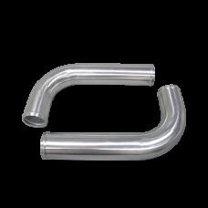 "2pcs 3"" Inch OD 90 Degree L-Bend Universal Aluminum Intercooler Intake Pipe"