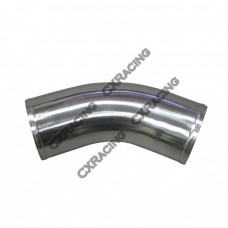 "4"" OD Universal Aluminum Joiner Pipe 45 Degree, 3mm Thick Tube, 10"" in Length"