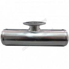 "Polished 2.5"" Aluminum Blow Off Valve BOV Adaptor Flange Pipe Tube"