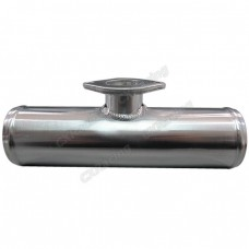 "Polished 3"" Aluminum Blow Off Valve BOV Adaptor Flange Pipe Tube"