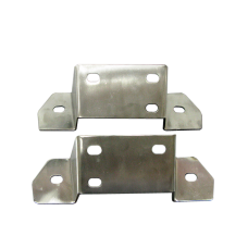 Thick Polished Stainless Steel Mounting Bracket For Datsun 510 Rear Bumper
