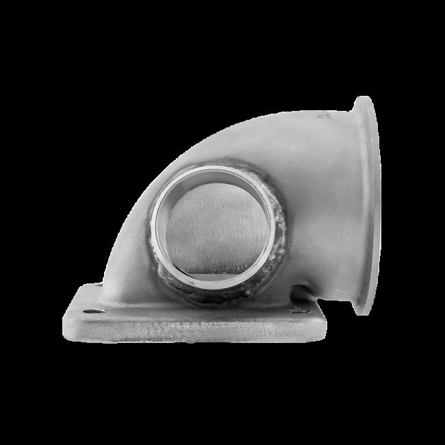 3 Vband 90 Deg T4 Turbo Elbow Adapter Flange 304 SS Cast Center WG Tube