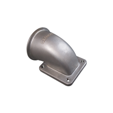 """3"""" Vband T4 Turbo Stainless Steel 90 Degree Elbow Adapter Flange 304 SS Cast"""