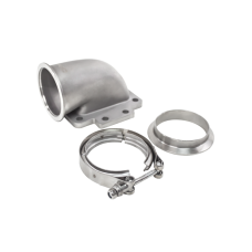 """3"""" Vband 90 Degree T6 Turbo Elbow Adapter Flange Clamp 304 SS Cast"""