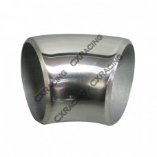 "2"" O.D. Extruded 304 Stainless Steel Elbow 45 Degree Pipe , 3mm (11 Gauge) Thick"