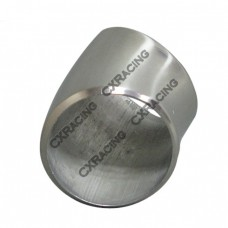 "2.5"" O.D. Extruded 304 Stainless Steel Elbow 45 Degree Pipe , 3mm (11 Gauge) Thick"