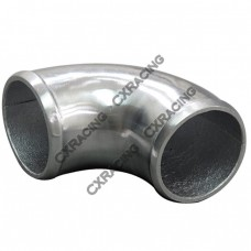 "2.5"" Cast Aluminum 90 Degree Elbow Pipe Tube Turbo intercooler Polished"