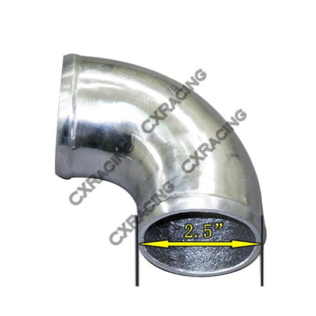 Quot cast aluminum degree elbow pipe tube turbo