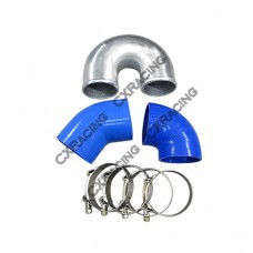 """3"""" Cast Aluminium Elbow U 45 90 deg Hose Clamp Intercooler Turbo Pipe"""