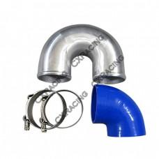 """3"""" Cast Aluminium Elbow U 90 deg Hose Clamp Intercooler Turbo Pipe"""