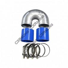 """3"""" Cast Aluminium Elbow U + 2 Hose Clamp Intercooler Turbo Pipe Intake"""