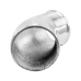 """Polished Cast Aluminum 45 Degree 3""""-2.5"""" O.D. Reducer Elbow Pipe"""