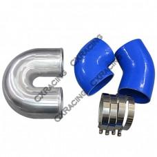 """4"""" Cast Aluminium Elbow U 45 90 deg Hose Clamp Intercooler Turbo Pipe"""