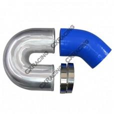 """4"""" Cast Aluminium Elbow U + 45 deg Hose Clamp Intercooler Turbo Pipe"""
