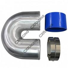 """4"""" Cast Aluminium Elbow U + Hose Clamp Intercooler Turbo Pipe Intake"""