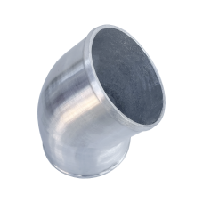 """Polished Cast Aluminum 45 Degree 5"""" O.D. Elbow Pipe"""