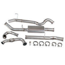 "Turbo Back Downpipe Exhaust For 83-90 Land Rover Defender 110 3"" SS"