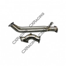 "Stock Turbo Elbow + Dual Downpipe For Nissan RB25 RB25-DET 3"" Stainless"
