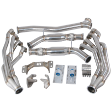 Version2 LS1 Engine T56 Trans Mounts Headers Y Exhaust For 240SX S13/S14 LS