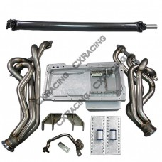 LS1 T56 Transmission Swap Kit Header Oil Pan Driveshaft For S13 240SX