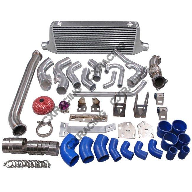 2jzgte Complete Engine: 2JZGTE Engine R154 TransMount Turbo Downpipe Intercooler