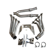 Engine Transmission Mounts Kit Header Exhaust Y For BMW E46 LS1 LSx T56 Swap