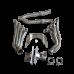 Engine Transmission Mounts Kit Header Exhaust Y For BMW E46 LS1 LSx T56 Swap