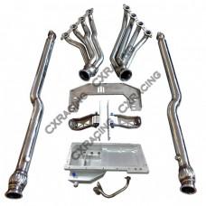 LS1 Engine T56 Transmission Mount Header Downpipe Oil Pan For Nissan 350Z Swap